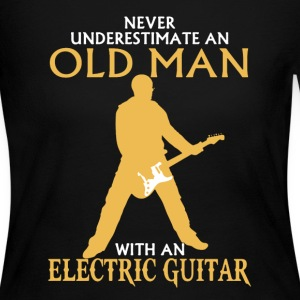 Old Man Electric Guitar - Women's Long Sleeve Jersey T-Shirt