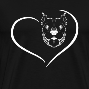 Pitbull Heart Shirt - Men's Premium T-Shirt