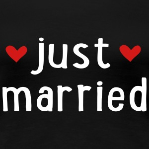 JUST MARRIED Women's T-Shirts - Women's Premium T-Shirt