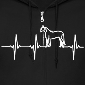 MY HEART BEAT FOR HORSES! Zip Hoodies & Jackets - Men's Zip Hoodie