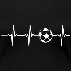 MY HEART BEATS FOR SOCCER Women's T-Shirts - Women's Premium T-Shirt