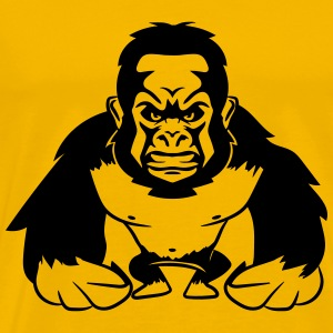 Gorilla agro monkey cool T-Shirts - Men's Premium T-Shirt