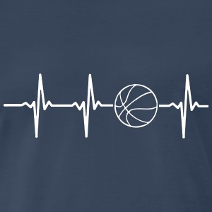 MY HEART BEATS FOR BASKETBALL, T-Shirts - Men's Premium T-Shirt