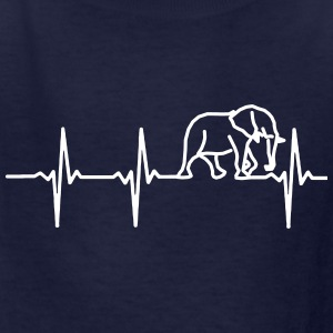 MY HEART BEATS FOR ELEPHANTS Kids' Shirts - Kids' T-Shirt