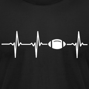 MY HEART BEATS FOR FOOTBALL T-Shirts - Men's T-Shirt by American Apparel