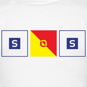 Sailing Flags - SOS T-Shirts - Men's T-Shirt