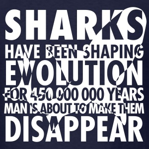 Sharks Shaping Evolution T-Shirts - Men's T-Shirt