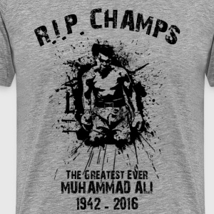 rip champs the greatest e T-Shirts - Men's Premium T-Shirt