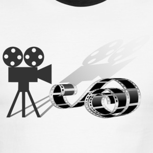 Film strip and film camera T-Shirts - Men's Ringer T-Shirt