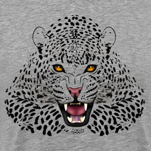 Tiger head with yellow eyes - Men's Premium T-Shirt
