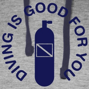 Diving Is Good For You Hoodies - Colorblock Hoodie