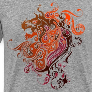 Swirl design lion T-Shirts - Men's Premium T-Shirt