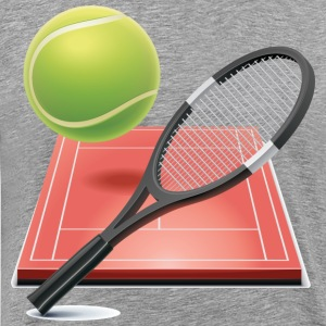 Shuttle court racket and ball T-Shirts - Men's Premium T-Shirt