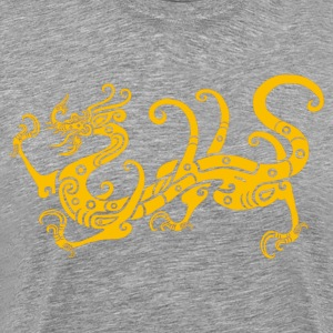 Golden dragon Chinese classical pattern T-Shirts - Men's Premium T-Shirt