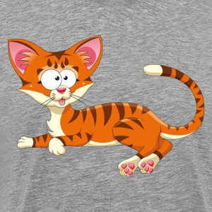 Sitting tigerish cat T-Shirts - Men's Premium T-Shirt