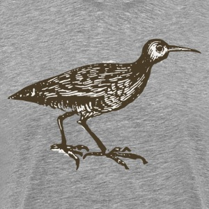 Black oyster swallower bird drawing T-Shirts - Men's Premium T-Shirt