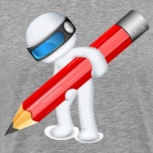 Robot model holding pencil T-Shirts - Men's Premium T-Shirt