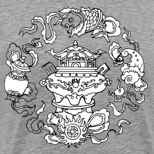 Round dragon Chinese classical pattern T-Shirts - Men's Premium T-Shirt