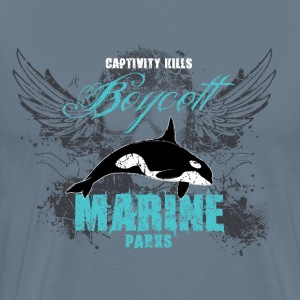 Captivity Kills Orca design by Calico Dragon T-Shirts - Men's Premium T-Shirt