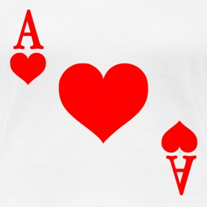 Ace of Hearts  - Women's Premium T-Shirt
