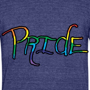 Pride Handwritten T-Shirts - Unisex Tri-Blend T-Shirt by American Apparel