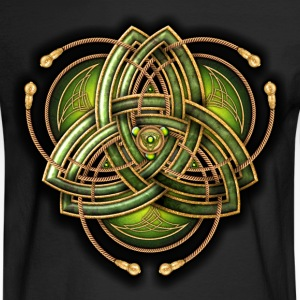 Green Celtic Triquetra - Men's Long Sleeve T-Shirt