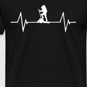 Hiking Heartbeat Love T-Shirt T-Shirts - Men's Premium T-Shirt