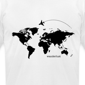 The World is Yours - Men's T-Shirt by American Apparel