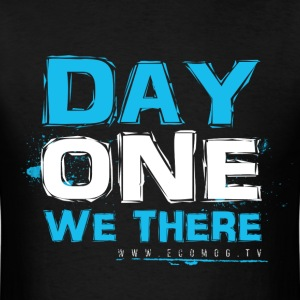 Day One We There (blue) - Men's T-Shirt