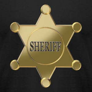 Sheriff golden star T-Shirts - Men's T-Shirt by American Apparel