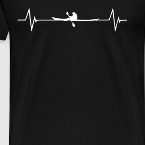 Kayaking  Heartbeat Love T-Shirt T-Shirts - Men's Premium T-Shirt
