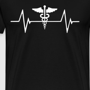 Medical Worker Nurse  Heartbeat Love T-Shirt T-Shirts - Men's Premium T-Shirt