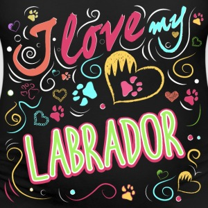 I love my labrador - Women's Maternity T-Shirt