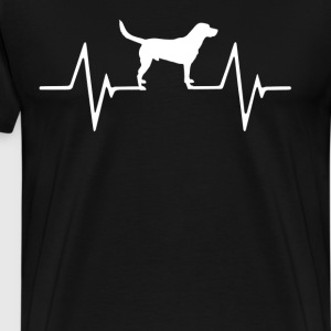 Labrador Retriever  Heartbeat Love T-Shirt T-Shirts - Men's Premium T-Shirt