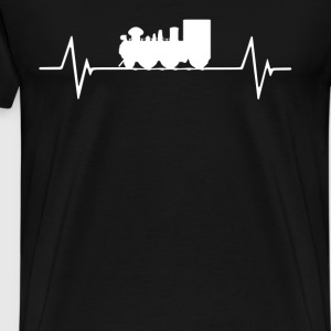 Model Railroad  Heartbeat Love T-Shirt T-Shirts - Men's Premium T-Shirt