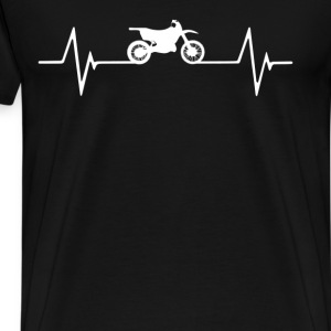 Motocross  Heartbeat Love T-Shirt T-Shirts - Men's Premium T-Shirt