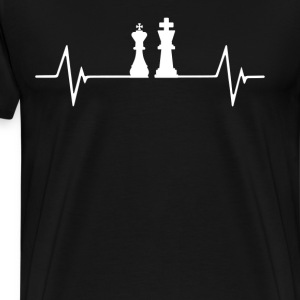 Playing Chess  Heartbeat Love T-Shirt T-Shirts - Men's Premium T-Shirt