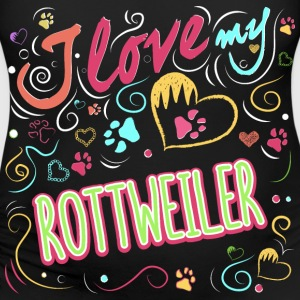 I love my rottweiler - Women's Maternity T-Shirt