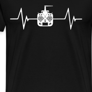 RC Hobbies Quadcopter Pla  Heartbeat Love T-Shirt T-Shirts - Men's Premium T-Shirt
