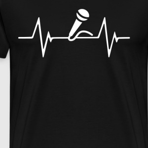 Singing  Heartbeat Love T-Shirt T-Shirts - Men's Premium T-Shirt