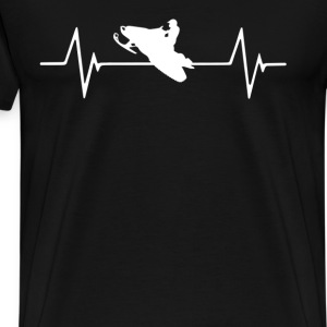 Snowmobile  Heartbeat Love T-Shirt T-Shirts - Men's Premium T-Shirt
