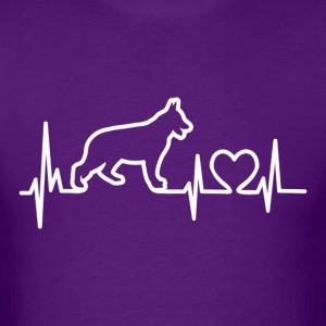 My Heart Beats German Shepherd - for darks T-Shirts - Men's T-Shirt