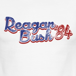 Retro Republican Reagan Bush 84 - Men's Ringer T-Shirt