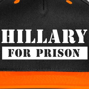 Black/Orange Hillary for Prison Cap - Snap-back Baseball Cap