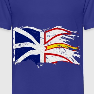 DISTRESSED WAVING NEWFOUNDLAND AND LABRADOR FLAG - Kids' Premium T-Shirt