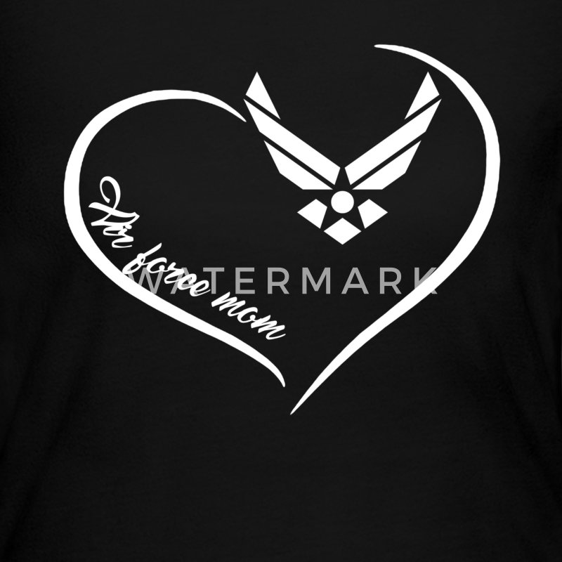 Air Force Mom Heart Shirt - Women's Long Sleeve Jersey T-Shirt