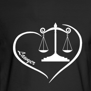 Lawyer Heart Shirt - Men's Long Sleeve T-Shirt