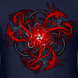 Norse Triple Red Dragons - Men's T-Shirt