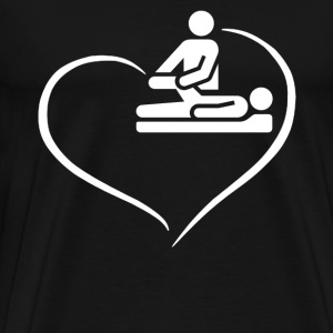 Massage Therapist Heart - Men's Premium T-Shirt