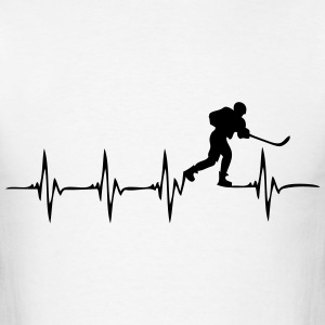 Heartbeat Ice Hockey 2 - Men's T-Shirt